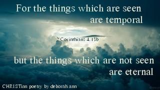 Through the Eyes of God's Grace ~ CHRISTian poetry by deborah ann
