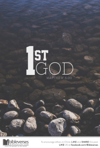 God First ~ CHRISTian poetry by deborah ann ~ Photo IBibleverses