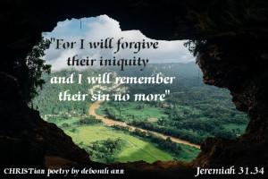 Remember No More ~ CHRISTian poetry by deborah ann